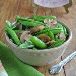 Sugar Snap Peas Mint and Mushrooms