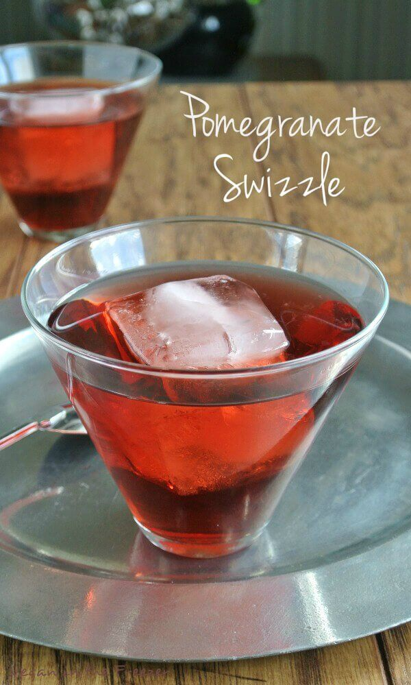 Pomegranate Swizzle has a lot of fruity flavors and with the depth of pomagranate and rum added it makes for a fantastic drink. Beautiful and festive!