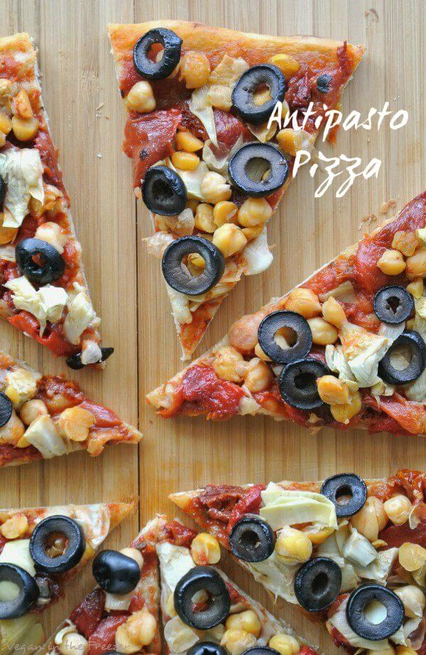 Antipasto Pizza Sliced Pin Word