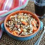 Stick to Your Ribs Lentils and Rice. Easy to make and full of a variety of vegetables that everyone loves.
