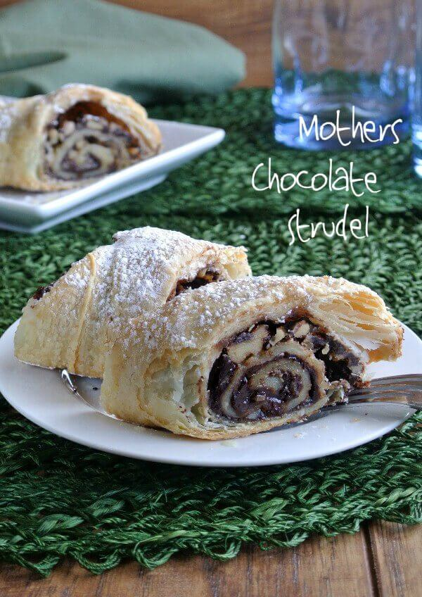 Mother's Chocolate Strudel only has 4 ingredients and it comes together in about 15 minutes. She will love it and needless to say everyone else will too.