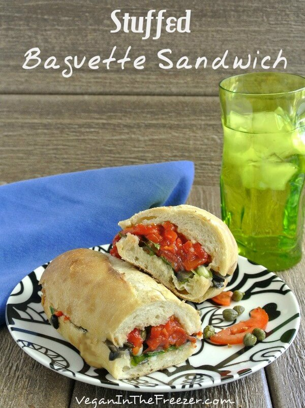 A Stuffed Baguette Sandwich is the answer to many a person's dream.This version is a great blend of flavors that will keep you full and satisfied for hours.