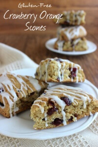 Cranberry Orange Scones are the perfect treat. Citrus, cranberry and a sweet glaze will make you want to serve these over and over. A classic combination!