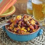 Chili Pasta Casserole is a nice comforting dish that is easy to make and will be enjoyed by the whole family. Easily doubled for a large gathering too.