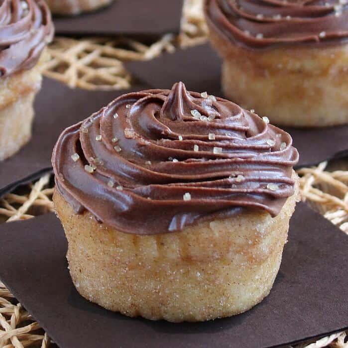 Chocolate Frosted Lemon Cupcakes are so inviting with a chocolaty top and the cupcakes have just a hint of lemon. Two of my favorite dessert flavors combined in one.