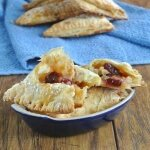 Cranberry Apple Turnovers use Granny Smith apples and dried cranberries.