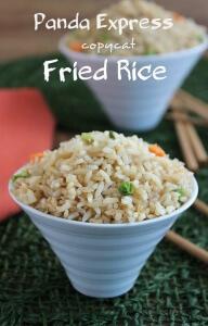 Panda Express Copycat Fried Rice Pin Photo | Vegan in the Freezer