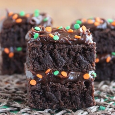 Double Chocolate Brownie Stacks