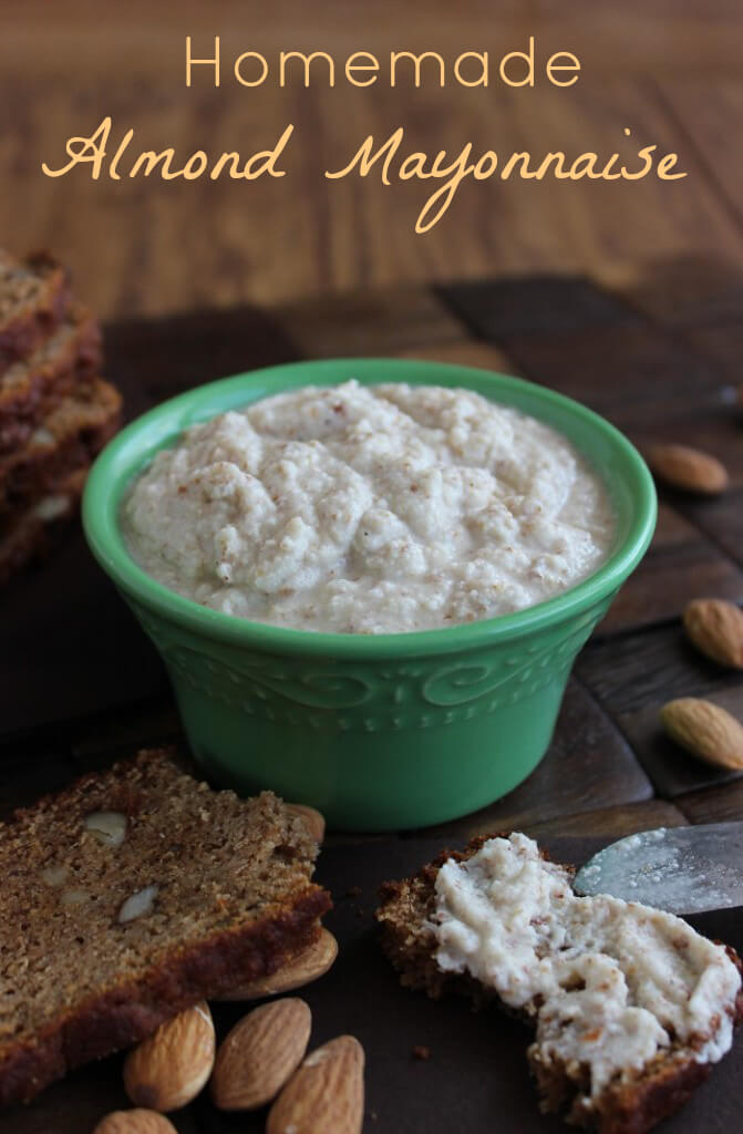 Homemade Almond Mayonnaise is an extremely flavorful spread that will mimic classic dairy mayonnaise on any sandwich.