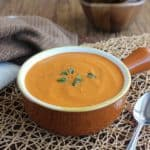 Rich Tomato Bisque is a classic soup that is simple to make. The richness comes from coconut milk and the spices are varied. Comfort food at it's best.