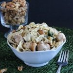 Company Worthy Bowtie Pasta Salad is all prettied up with a little extra veggies and spices.