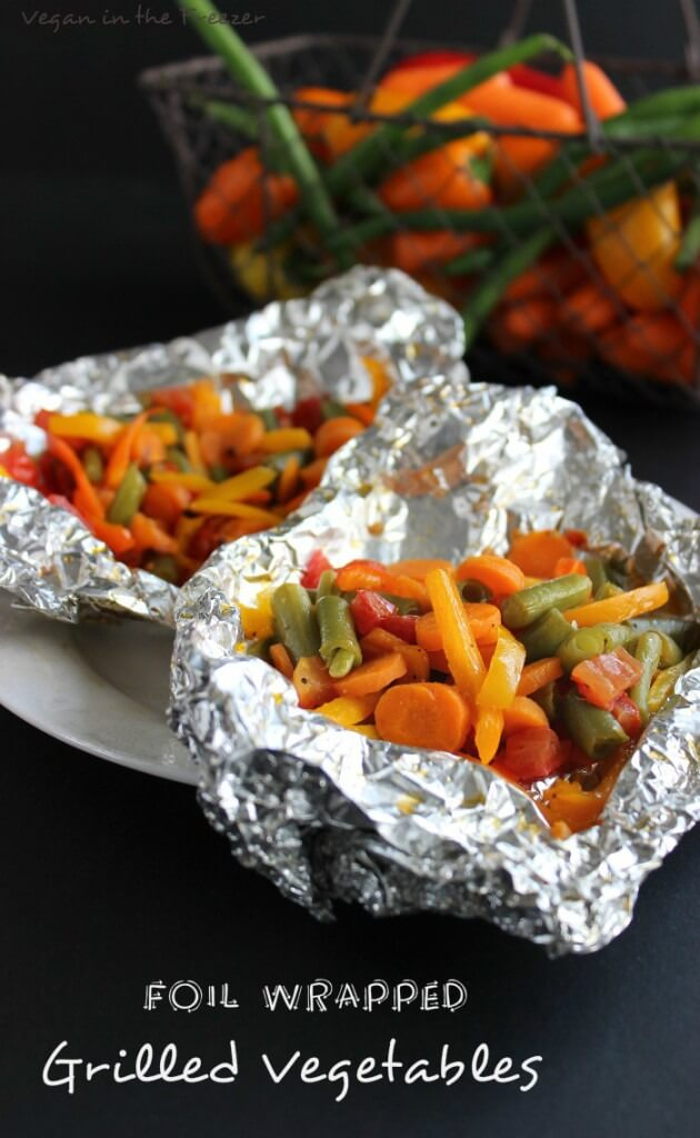 Foil Wrapped Grilled Vegetables (grill pan) are wrapped up in a little package with herbs and spices. The freshest most tender cooked vegetable imaginable.