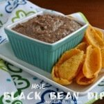 Mole Black Bean Dip (mole = mo-lay) is just a little bit different. Black beans, mild chilies and easy. There is even a secret ingredient. Perfect.