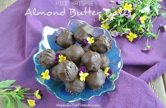 Rice Krispie Almond Butter Balls