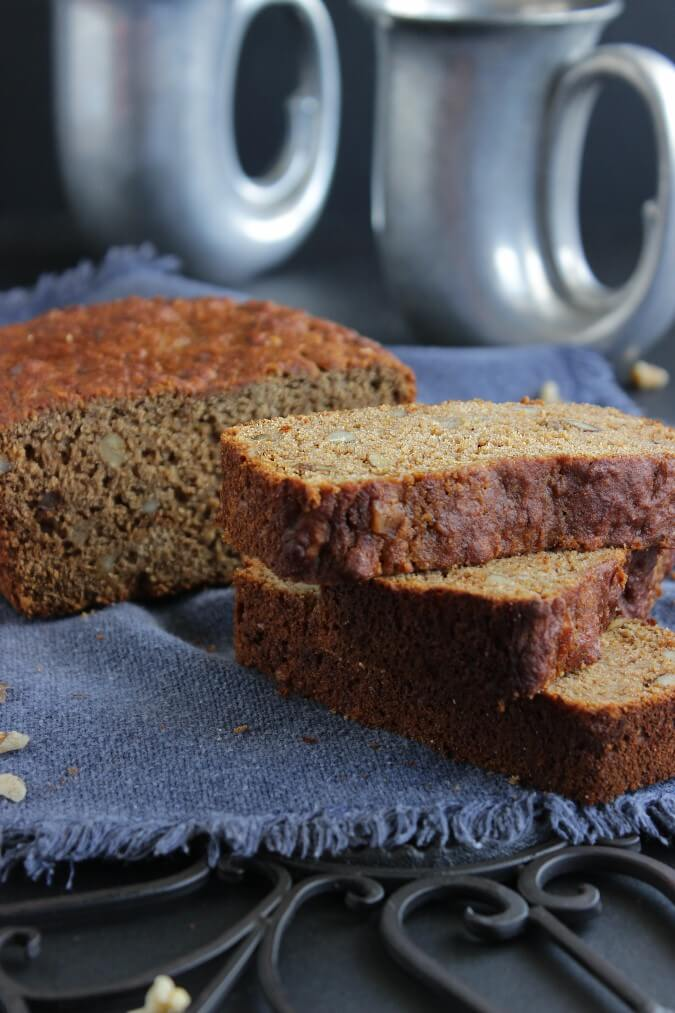 Black Walnut Pear Bread is delicious on it's own but you know what? It is great when it is sliced as sandwich bread too. Unique and tasty quick bread.