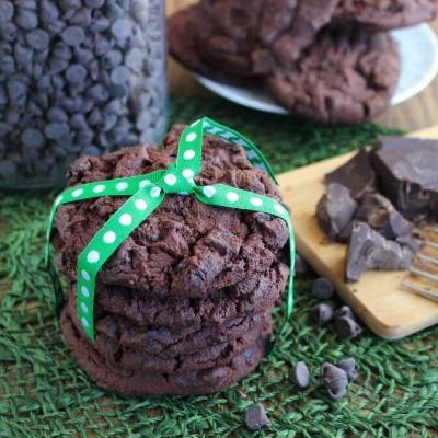 Chunky Triple Chocolate Cookies