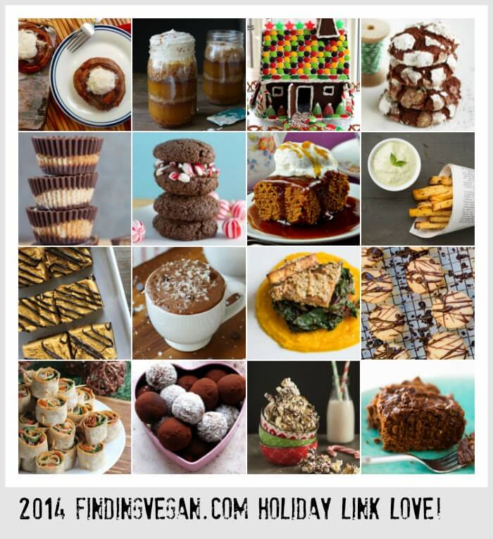 Over 50 vegan holiday recipes along with books, features and more. Finding Vegan Bloggers are the best! Happy Holidays 2014!
