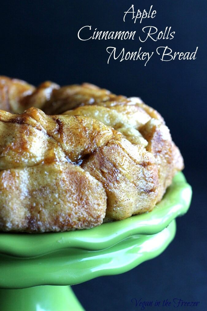 Apple Cinnamon Rolls Monkey Bread are made from pre-packaged sweet ...