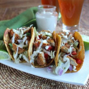 Crispy Tenders Chickenless Tacos are a twist on the famous taco founded on the coast of Southern California. Sooo easy to make - just minutes.