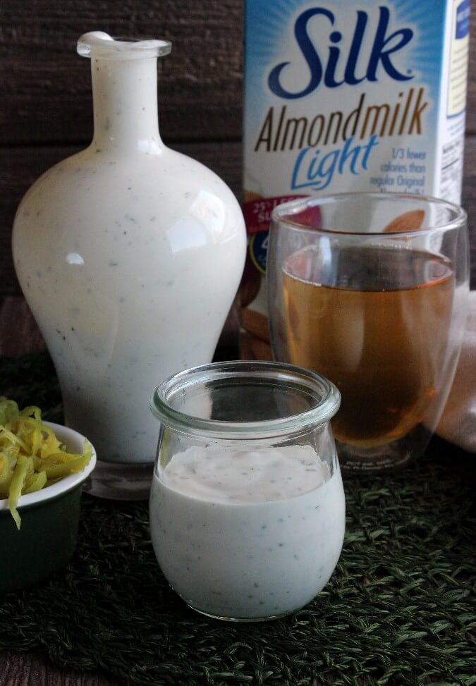 Dairy Free Ranch Dressing is rich and creamy plus simple to make from scratch. Fun and creative then use it on tacos, appetizers, salads and as a dip.