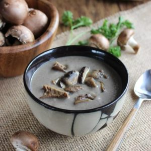 Exotic Mushroom Soup is turned up a notch with those mushrooms that you have always wanted to try. It all starts in the slow cooker. Rich, creamy.