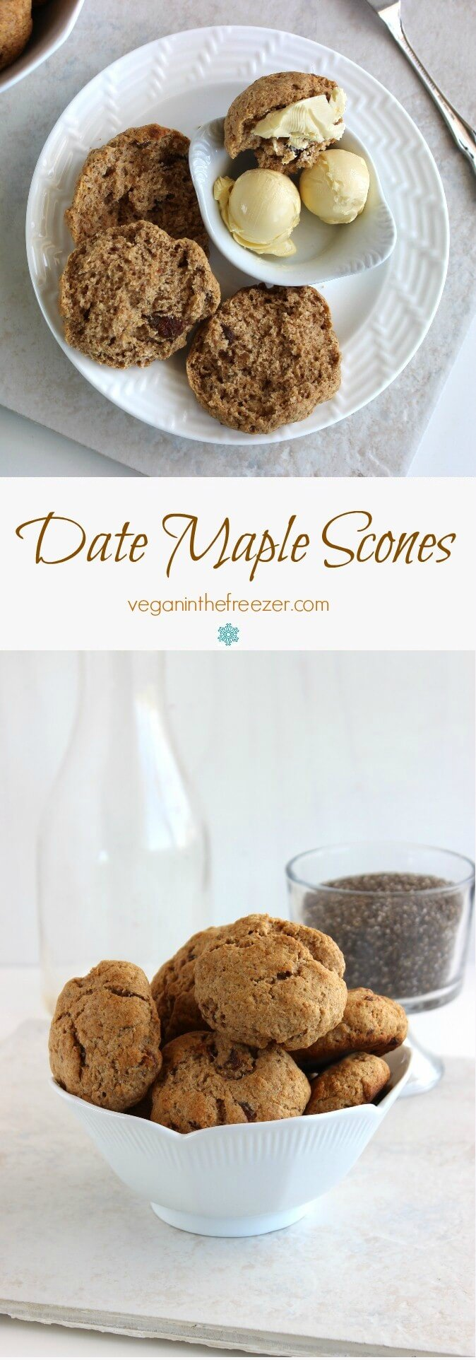 Date Maple Scones are a comfort food with deep rich flavors. Tender and moist inside and they will melt in your mouth. Easy, tasty, perfect!