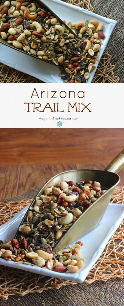 Sweet and Salty Arizona Trail Mix is an abundant variety of nuts and seeds. Snack, exercise and trail ready it will keep you going for a long time.