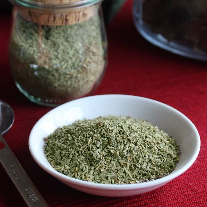 Italian seasoning adds so much to a sauce or casserole. You probably have all of the herbs in your cupboard. A little measuring and that's it.