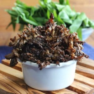 Grilled Thai Marinated Maitake Mushrooms glisten with a wonderful Asian marinade. One of the best sides for the grill or grill pan. You will be amazed!