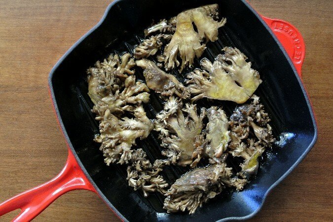 Marinated Maitake Mushrooms glisten with a flavorful Asian marinade ...