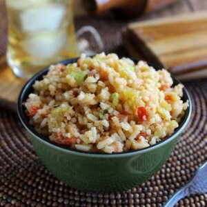 This Green Chili Rice Recipe is prepared like a flavorful soup and ends up as a fantastic side dish. Easy and delicious.