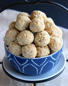 No Bake Protein Peanut Butter Balls are a healthy treat that you can pop in your mouth when you are on the run. Only 5 Ingredients.