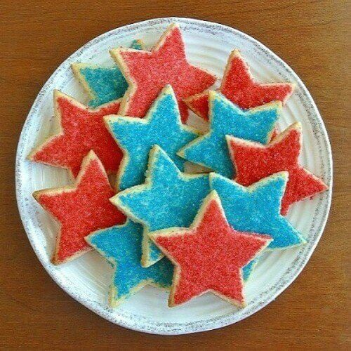 Stars Shortbread Cookies will add a lot of color to your table and put smiles on all the faces.