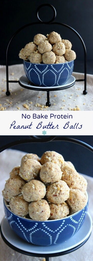 No Bake Protein Peanut Butter Balls are an easy and healthy treat that you can pop in your mouth.. Only 5 Ingredients.