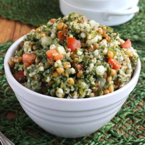 Mediterranean Tabbouleh is fresh and filling. Very easy recipe and a really nice salad and side dish.
