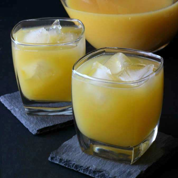 Crystallized Ginger Orange Juice Cocktail is a spicy sweet concoction.