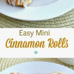 Easy Mini Cinnamon Rolls are precious little treats that will almost melt in your mouth. Easy to make using a pre-packaged crescent favorite.