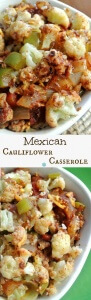 Mexican Cauliflower Casserole is a fantastic side dish. There are many spices and accent vegetables that blend just right.