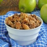 Slow Cooker Apple Granola Crumble is easy, delicious and healthy! Dang! A triple header.