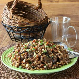 Slow Cooker Wild Rice Blend Recipe is grains, nuts and veggies are all combined for a special side dish.