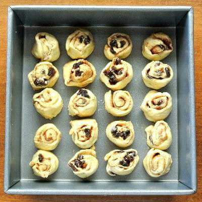 Easy Mini Cinnamon Rolls are precious little treats that will almost melt in your mouth. Rolled and ready to bake.