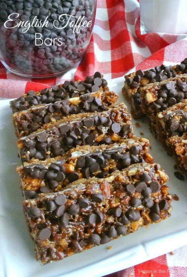 English Toffee Bars are chocolaty and perfect - amazingly beautiful too. Just imagine biting into the flavors of a classic favorite all rolled into a bar.