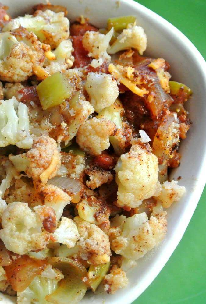 Mexican Cauliflower Casserole is a fantastic side dish with many spices and accent vegetables that blend just right. Easy to make and healthy too.