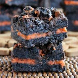 Autumn Oreo Brownies
