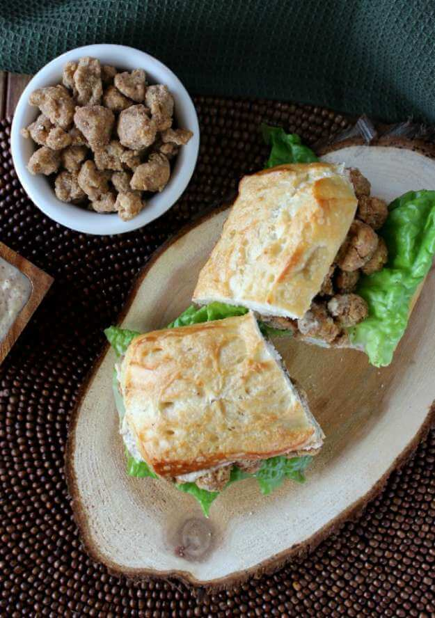 Cauliflower Po' Boy Sandwich is a hearty sandwich that is made from roasted cauliflower that has been drenched in a flavorful coating. You will be amazed and delighted!