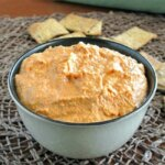 Everybody loves Roasted Red Bell Pepper Hummus. Yes, the guys too.