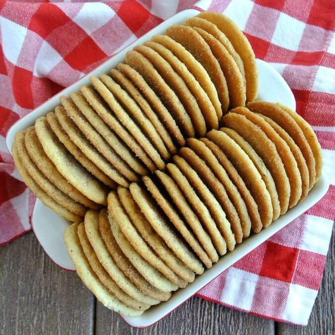 Cinnamon Sugar Cookies will have you licking the cinnamon sugar off your lips.