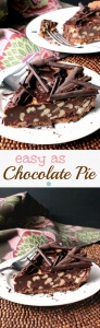 Vegan Chocolate Pie is decadent, to say the least, and it comes together in minutes. Let it harden in the fridge and this No-Bake indulgence is the best!