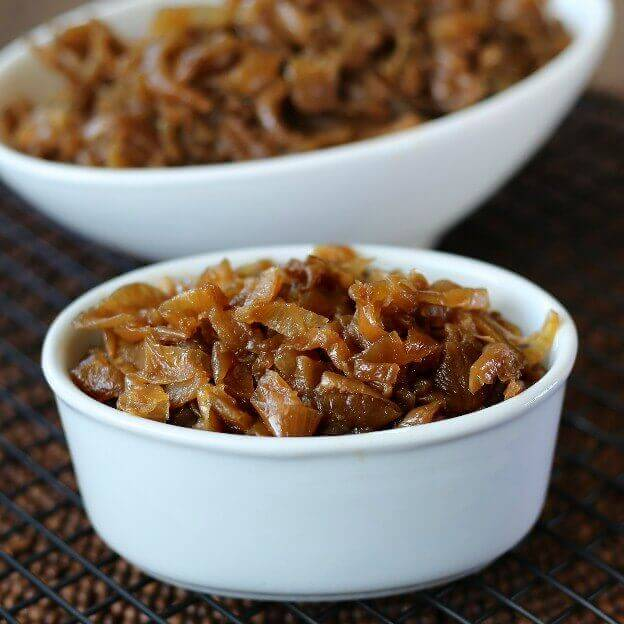 Slow Cooker Caramelized Onions can be made ahead of time and are easy ...