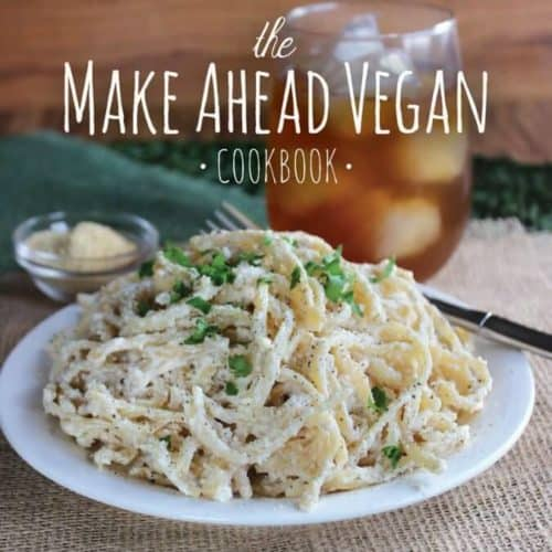 The Make Ahead Vegan Cookbook is ready for pre-sales with 125 recipes. Color photos on every page of down-home recipes for comfort and taste.